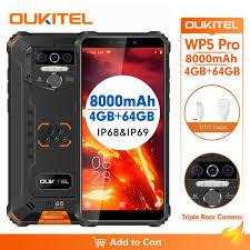 <b>OUKITEL WP5 Pro</b> Waterproof Smart Phone IP68 Android 10 <b>4GB</b> ...