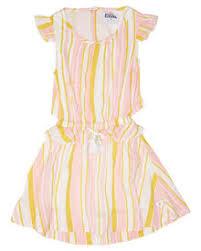 Eves Sister <b>Girls Summer Dress</b> - Kids - White Honey <b>Pink</b> Stripe ...