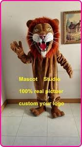 Red Hair <b>Lion</b> Mascot <b>Costume Cosplay</b> Party Game Dress Outfit ...
