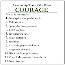 leadership trait of the week courage