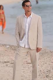 <b>Summer Champagne Linen Men</b> Suits in 2019 | Beach wedding ...