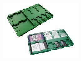 <b>Футляр REFI Holder SD</b> / microSD SIM Green | www.gt-a.ru