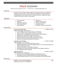 and project manager resume technical  seangarrette coand project manager resume