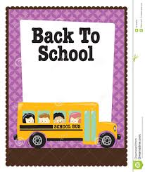 8 5x11 school flyer w bus and kids royalty stock photo 8 5x11 school flyer w bus and kids