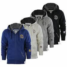 Mens <b>Hoodie Crosshatch</b> Grabble Borge Fleece Lined Hood Zip Up ...