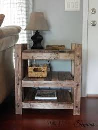 arhaus inspired diy end table diy how to painted furniture rustic furniture build your own rustic furniture