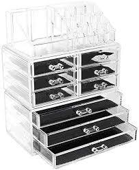 storage box Desktop Cosmetics Organizer Tray ... - Amazon.com