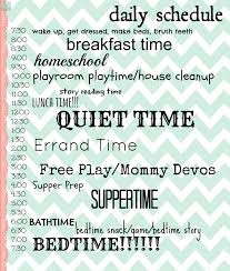 reasons that having a daily routine keeps me sane mostly stay at home mom schedule i like the general idea of this plan