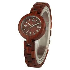 Women <b>Watches Red Sandalwood Luxury</b> Small Wood Watch ...