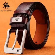 NO.ONEPAUL cow genuine leather <b>luxury strap male</b> belts for <b>men</b> ...