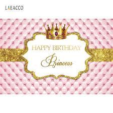 <b>Laeacco Pink Princess</b> Backdrops Gold <b>Crown</b> Headboard Sofa ...