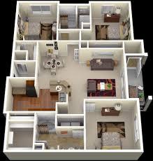 "Three "" "" Bedroom Apartment House Plans   Architecture  amp  Design    bedroom apartment floor plans"