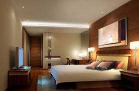 calming wall paint color scheme of small bedroom design with beautiful bed lamp on dark brown bedroom modern lighting