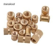 Transkoot 310PCS <b>M3</b> Kit Plastic Circular <b>Knurled</b> Pre Embeded Nut ...
