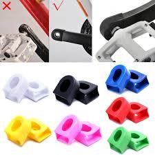 <b>QILEJVS 1</b> Pair Sleeve Silicone Cranksets Silicon <b>Bicycle Bike</b> MTB ...