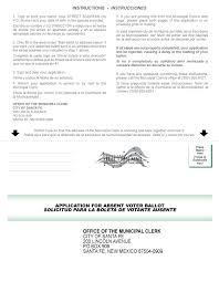 application for absentee ballot city of santa fe new application for absentee ballot