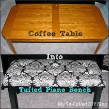 Coffee Table Into A Bench Vintage Junky Creating Character How To Turn A Coffee Table