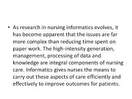 NR       Nursing Informatics   Chamberlain College of Nursing   Nursing Informatics  Scope  amp  Standards of Practice  American Nurses Association