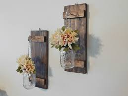 room mexican decor floral vases hanging mason jar wall sconce flower vase candle sconce wall mounted r