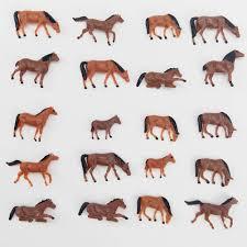 CWBPING <b>20pcs</b> HO Scale Painted Farm Animals 1:87 Scale <b>Model</b> ...