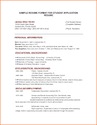 sample format of simple resume cover letter template visa sample format of simple resume