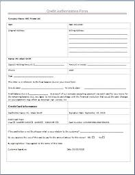ms word credit authorization form template word excel templates credit authorization form