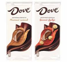 <b>ШОКОЛАД Dove молочный</b>, 90 г: - классический - с фундуком ...