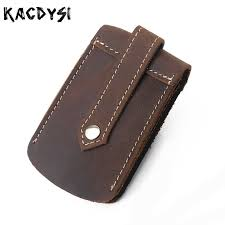 KACDYSI <b>Handmade</b> Vintage Leather Men <b>Car Key</b> Wallet Retro ...