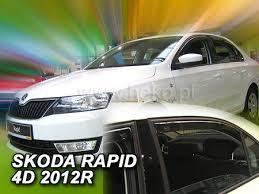 <b>Дефлекторы боковых окон вставные</b> Heko для Skoda Rapid ...