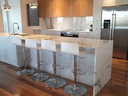 calacatta marble kitchen waterfall: calcutta marble modern kitchen modern kitchen calcutta marble modern kitchen