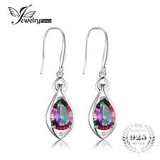 Jewelry Water Drop 6.8ct <b>Rainbow Fire</b> Mystic Topaz Dangle ...