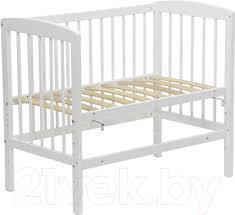 <b>Polini Kids Simple</b> 100 (белый) Детская <b>кроватка</b> купить в Минске ...