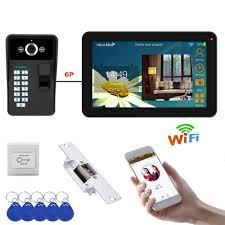 <b>9 inch</b> Wired / <b>Wireless</b> Wifi Fingerprint Video Door Phone <b>Doorbell</b> ...