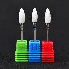 """<b>1 PCS Ceramic</b> Nail Drill Bit <b>3/32</b>"""" Rotate Burr Milling Cutter Bits For ..."""