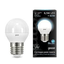 Купить <b>Лампа Gauss LED Globe</b> E27 6.5W 4100K по цене от 150 ...