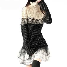 Women <b>Long Turtleneck</b> Cashmere <b>Knitted</b> Sweaters And Pullovers ...