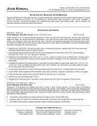 Example Retail District Manager Resume Free Sample Resume Cv ... Example Retail District Manager Resume Free Sample .