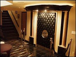 themed family rooms interior home theater: padded door amp side ropes home theater movie room movie theme room media room tv room den living room family room feng shui your