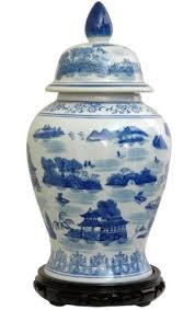 get quotations oriental furniture authentic asian style urn 18 inch chinese blue and white porcelain temple cheap oriental furniture