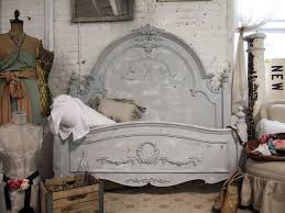painted cottage chic shabby dove grey queen romance bed chic shabby french style