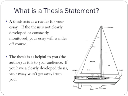 the central focus of any essay thesis statements   ppt download what is a thesis statement a thesis acts as a rudder for your essay
