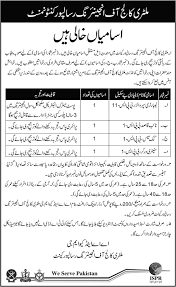 laborty supervisor cook and worker job in military college of laborty supervisor cook and worker job in military college of engineering risalopur