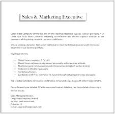 sales  amp  marketing executive job vacancy in sri lankakey requirements  • should have completed g c e  a l • should have a dynamic and pleasant personality   a positive attitude