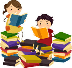 Image result for childrens reaing with family books clipart