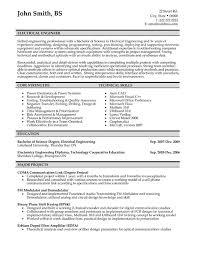 Resume Example Electrical Engineer Resume Template p