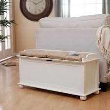 storage bench for living room: belham living morgan traditional flip top indoor storage bench vanilla