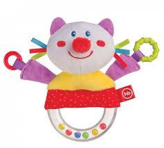 Погремушка <b>Happy Baby</b> с <b>пищалкой</b> Кот 330357 купить в ...