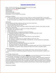 proper resume format com proper required resume format experience summary