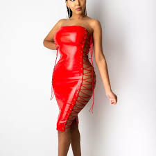 hirigin Summer Women Sleeveless <b>Strapless Two</b> Side Bandage ...