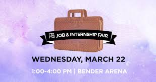 job and internship fairs spring job internship fair 22 1 4 pm bender arena